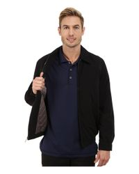 Perry Ellis - Black Microfiber Golf Jacket for Men - Lyst