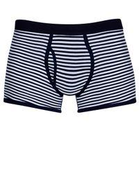 Sunspel | Blue Stripe Low Waist Egyptian Cotton Trunks for Men | Lyst
