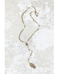 Urban Outfitters - Metallic Always With Me Hand Pendant Necklace - Lyst