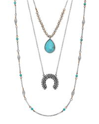 Lucky Brand | Metallic Squash Blossom Lucky Layer Necklace | Lyst