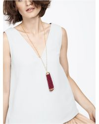 BaubleBar | Purple Clara Tassel Pendant | Lyst