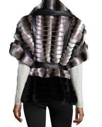 Gorski - Gray Rabbit-Fur Belted Jacket - Lyst