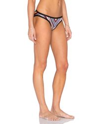 Zimmermann | Metallic Ticking Wrap Bikini Set | Lyst