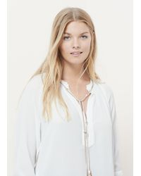 Violeta by Mango | White Braided Cord Blouse | Lyst