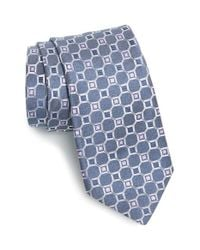 Michael Kors | Blue Medallion Silk & Linen Tie for Men | Lyst