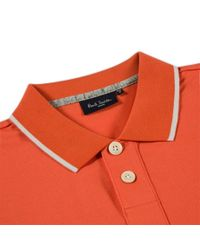 Paul Smith - Orange Zebra Logo Polo Shirt for Men - Lyst