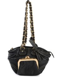 Dolce & Gabbana | Black Coin Pouch Tote | Lyst