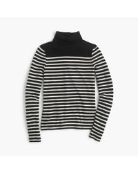 J.Crew | Black Striped Turtleneck | Lyst