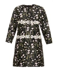 Giambattista Valli | Black Collarless Floral-Jacquard Jacket | Lyst