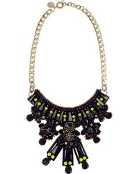 Matthew Williamson | Black Gold-Plated, Crystal And Acrylic Necklace | Lyst