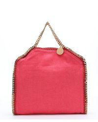 Stella McCartney - Pink Lipstick Canvas 'falabella' Convertible Tote - Lyst
