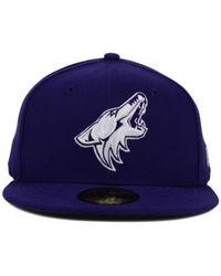 KTZ | Purple Arizona Coyotes C-dub 59fifty Cap for Men | Lyst