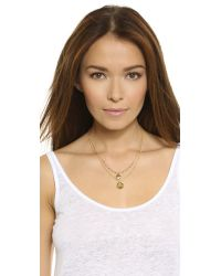 A.V. Max | Metallic Double Teardrop Necklace - Gold Multi | Lyst