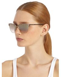 Jimmy Choo | Brown Laura Metal Sunglasses | Lyst