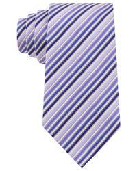 Geoffrey Beene - Purple Stripe Done Right Tie for Men - Lyst