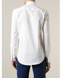 fde09b62 KENZO 'Eye' Button Down Shirt in White for Men - Lyst