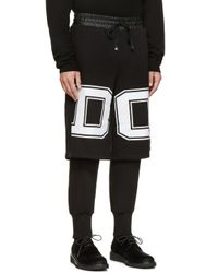 D by D - Black Printed Logo Layered Pants for Men - Lyst