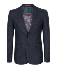 Ted Baker | Blue Edeson Micro Design Wool Suit Jacket for Men | Lyst