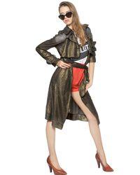 Vivienne Westwood | Brown Lurex Knit Trench Coat | Lyst