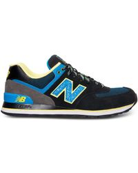 New Balance | Blue Men's 574 Casual Sneakers From Finish Line for Men | Lyst