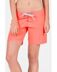 Volcom - Pink 'simply Solid' Board Shorts - Lyst