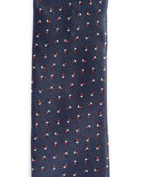 HUGO - Blue Irregular Dot Print Tie for Men - Lyst