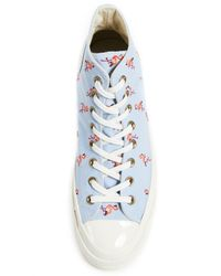 Converse - Blue Chuck Taylor All Star Sneakers With Flamingo Embroidery for Men - Lyst