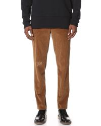 85fa377f3b3 Lyst - MSGM Distressed Corduroy Pants for Men