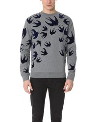 McQ | Gray Clean Crew Neck Sweatshirt for Men | Lyst