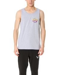 RVCA - Gray Layd Back Tank for Men - Lyst