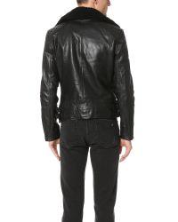 Rag & Bone - Black Buzz Moto Jacket for Men - Lyst