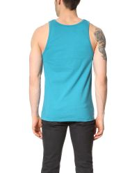 Stussy - Blue International Tank for Men - Lyst