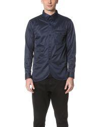 Han Kjobenhavn - Blue Army Shirt for Men - Lyst