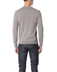 Éditions MR - Blue Crew Neck Sweater for Men - Lyst