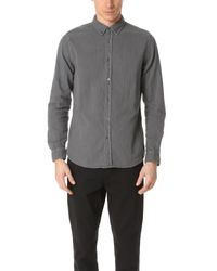 Baldwin Denim - Gray Otis Double Face Gauze Shirt for Men - Lyst