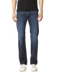 7 For All Mankind | Blue Austyn Straight Leg Jeans for Men | Lyst