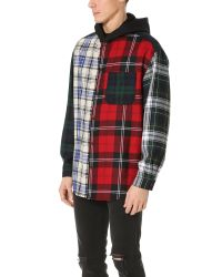 Alexander Wang - Multicolor Patchwork Hooded Overshirt for Men - Lyst
