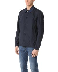 Theory - Blue Technical Taffeta Coach Jacket for Men - Lyst