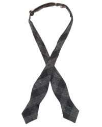 Alexander Olch - Black The Tuxedo Wool Gingham Bow Tie for Men - Lyst