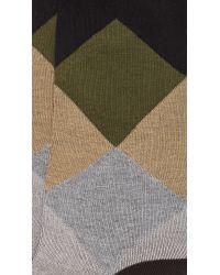 Etiquette - Natural Harlequin Socks for Men - Lyst