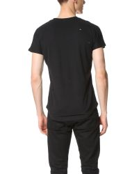 Chapter - Black Yuri Distressed Pocket Tee for Men - Lyst