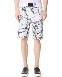 Calvin Klein Jeans | White Marble Print Shorts for Men | Lyst