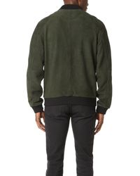 Scotch & Soda - Green Suede Bomber Jacket for Men - Lyst