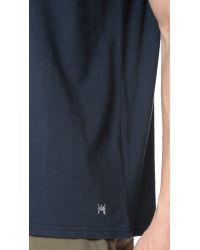 White Mountaineering - Blue Raglan Short Sleeve Tee for Men - Lyst