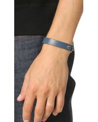 Giles & Brother - Blue Narrow Visor Cuff for Men - Lyst