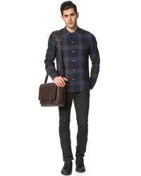 Officine Generale - Blue Italian Linen Indigo Shirt for Men - Lyst