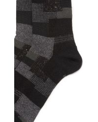Anonymous Ism | Black Patchwork Crew Socks for Men | Lyst