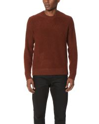 Vince | Blue Boiled Cashmere Crew Sweater for Men | Lyst