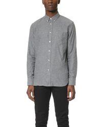 Rag & Bone | Gray Standard Issue Lightweight Flannel Shirt for Men | Lyst
