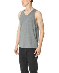 T By Alexander Wang - Gray Classic Tank With Pocket for Men - Lyst